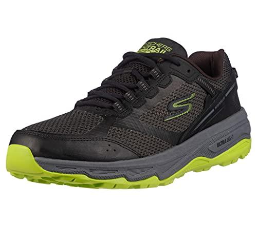 Skechers Men's GOrun Altitude-Trail Running Walking Hiking Shoe with Air Cooled Foam Sneaker, Black/Lime, 8.5