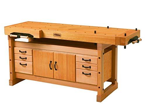 Sjöbergs Professional Elite 2000 European Beech Workbench & SM04 Storage Cabinet Package, SJO-66922K