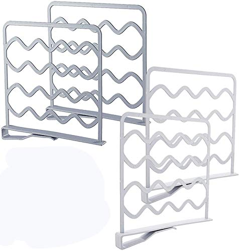 ZGHYBD 4PCS Wardrobe Organizer for Clothes,Closet Shelf Organizer Divider,Space Saving Shelf Dividers Suitable for Home, Bedroom, Kitchen