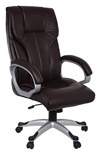 Townsville Barcelona Leatherette Fabric High Back Executive Chair (Brown)