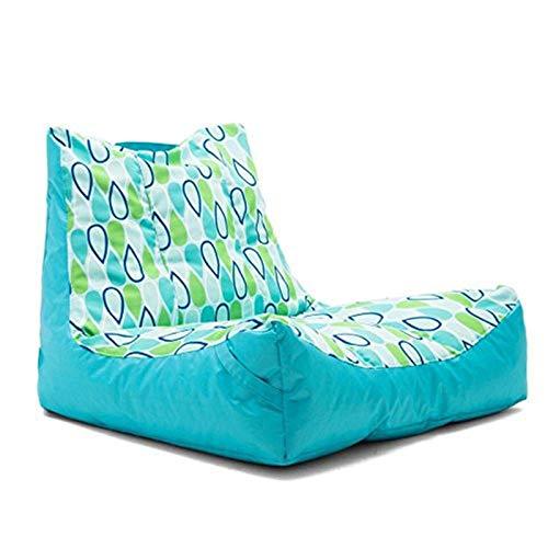 MxZas Haushaltsliege Sofa Couch Liege High Back Bohn Bagstuhl Großer Buttersackstuhl für Erwachsene und Kinder Bohnenaufbewahrungstasche (Color : Light Blue, Size : One Size)