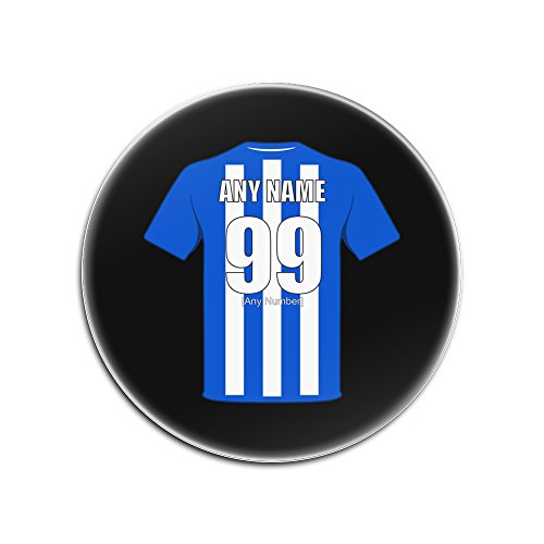 UNIGIFT Personalised Gift - Wigan Athletic Glass Round Coasters (Football Club Design Theme, Colour Options) - Any Name/Message on Your Unique Mat Pad - The Latics