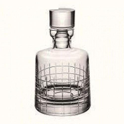 Christofle. Set Graphik: Botella de whisky de cristal 75 cl h 210