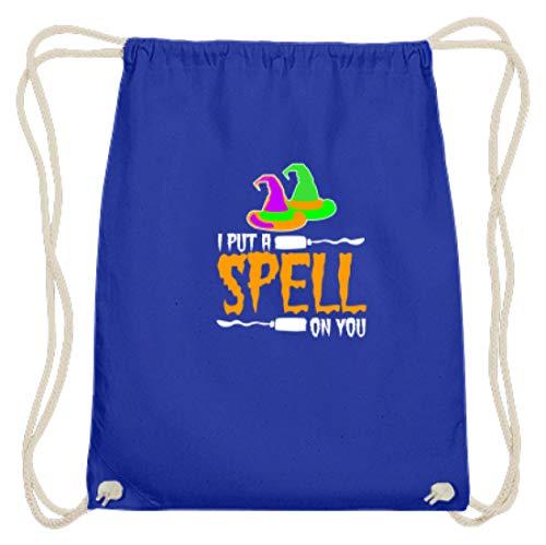 SPIRITSHIRTSHOP I Put A Spell On You - heksenhoed en heksenbezem - katoen gymsac
