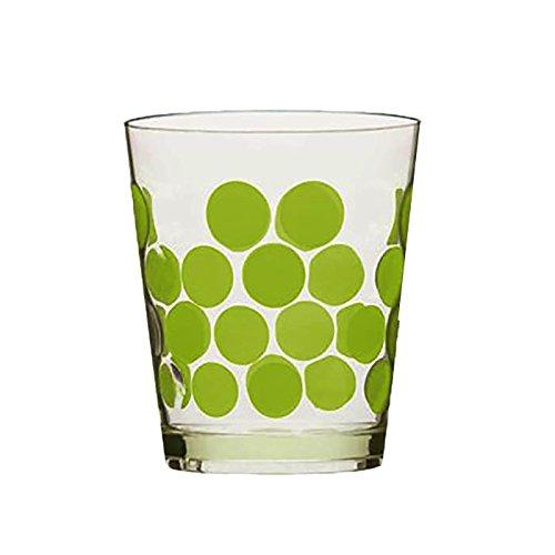 Zak Designs 0989-0045 Verre Dot 42 cl Vert Kiwi, Plastique, 5 x 5 x 12 cm