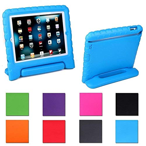 Aken Multi Function Child / Shock Proof Kids Cover Case with Stand / Handle for Apple iPad 2nd / 3rd / 4th Generation Tablet (iPad 2/3/4) (Blue)