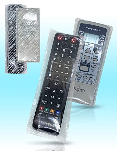 500 Fundas Protectoras para Mando de TV, Bolsa para Mando de televisión o Aire Acondicionado con precinto Adhesivo, 22 x 7,5 cm, 500 Bolsas