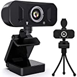 Racokky Webcam mit Mikrofon, 1080P Webkamera mit Stativ, USB 2.0 Plug & Play für Laptop & Desktop,...