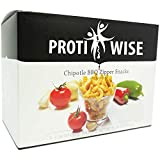 ProtiWise - High Protein Diet | Chipotle BBQ Zippers | Low Calorie, Low Fat, Low Sugar (7/Box)