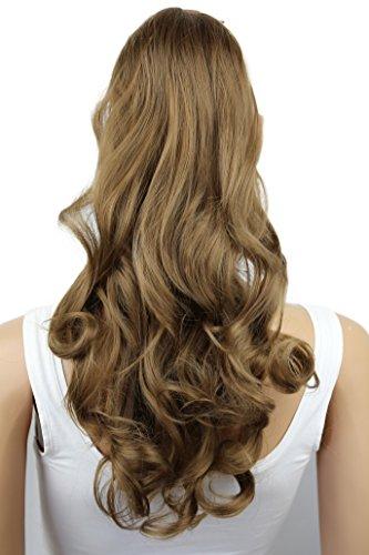 PRETTYSHOP 50cm Haarteil Zopf Pferdeschwanz Haarverlängerung Gewellt Hellbraun HC3-1