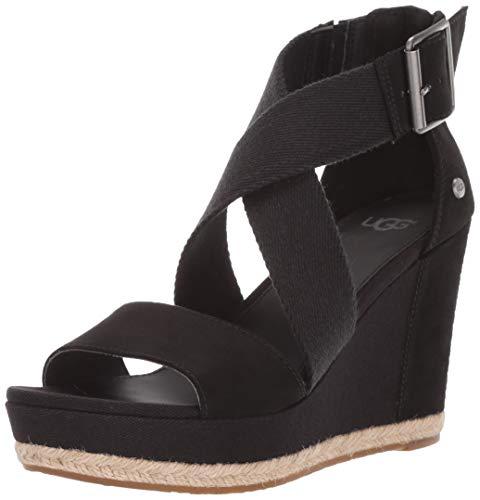 UGG Damenschuhe - Keil-Sandalette Calla 1099708 - Black, Größe:37 EU