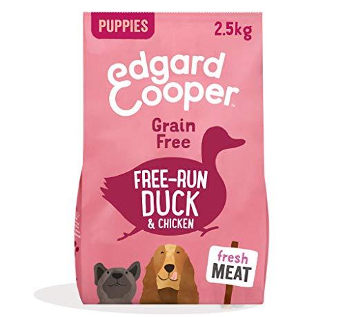 Edgard & Cooper Cibo Secco per Cani Cuccioli Crocchette con Carne Fresca di Anatra e Pollo Senza Cereali 2.5kg in Confezione Biodegradabile, Alimentazione Naturale per Cani di Ogni Taglia