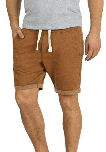 Blend Timo Herren Sweatshorts Kurze Hose Sport-Shorts aus hochwertiger Baumwollmischung Slim fit Stretch, Größe:XL, Farbe:Rust Brown (71512)