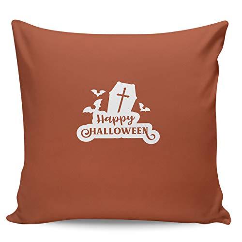 Scrummy Dekokissenbezüge 45,7 x 45,7 cm, Halloween-Stil, Grab & Fledermäuse, dekorative Kissenbezüge für Heimdekoration