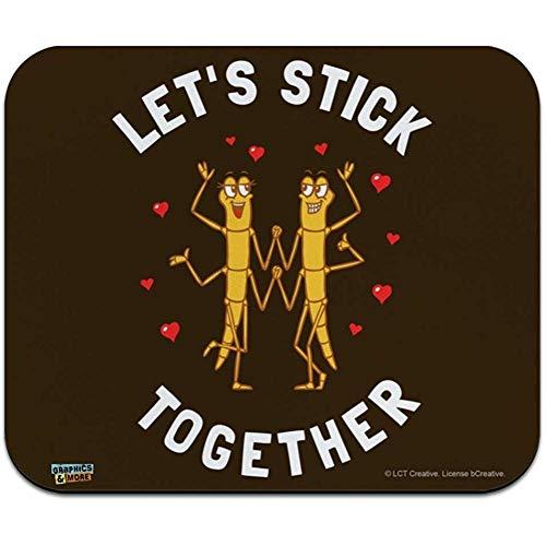 Lassen Sie Uns gehende Wanzen-Liebes-lustige Spaß-Flache dünne Mausunterlage Mousepad zusammen haften