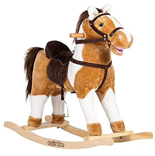 Rockin' Rider Turbo Rocking Horse Ride On, White