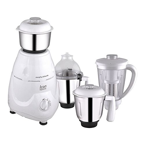 Morphy Richards Icon Supreme 750-Watt Mixer Grinder 4 Jars (White)