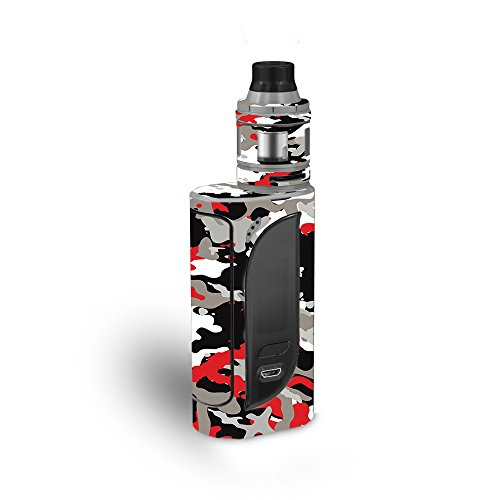 MightySkins Skin Compatible with Eleaf iKonn 220 - Red Camo | Protective, Durable, and Unique Vinyl Decal wrap Cover | Easy to Apply, Remove, and Change Styles | Made in The USA