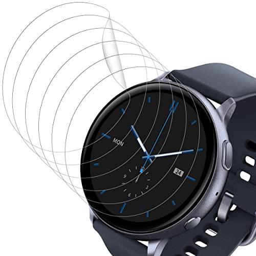 POOPHUNS Protector de Pantalla para Samsung Galaxy Watch Active 2 44mm, [6 Pack] Cristal Templado para Samsung Watch Active 2 44mm, Vidrio Templado, Dureza 9H, Anti-Rasguños