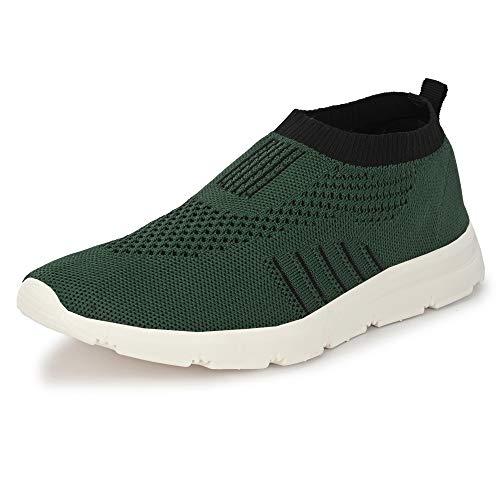 Bourge Men's Vega-Z1 Army Green Running Shoes-2 UK (Vega-12-02)