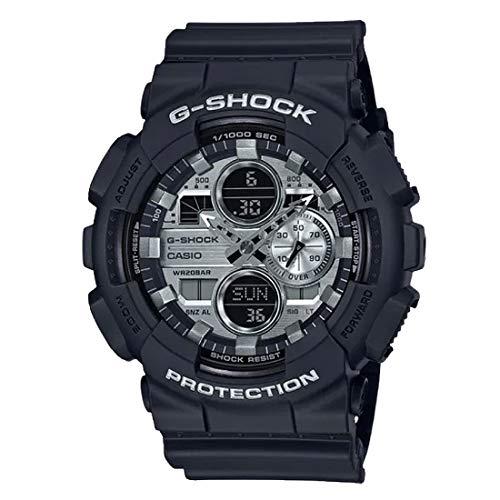 GA140GM-1A1 G-Shock アナログ-デジタル ガンメタル ダイヤル ブラックラバーストラップ メンズ 腕時計