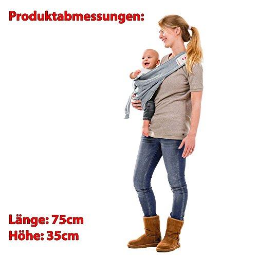 Lodger Shelter 2.0 – 3in1 Babytrage, Babytragetuch, Babysling sowie Transportdecke für Babys und Eltern, ab Geburt bis 18 Monate (max. 12kg), Sicheres Verschlusssystem, Trage-Tuch für Babys und Kinder, Schönes Design, Neu und OVP - 7