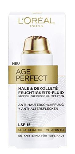 L'Oréal Paris Age Perfect Hals und Dekolleté Feuchtigkeitspflege, mit Soja-Ceramid, entknittert und spendet Feuchtigkeit, 50 ml