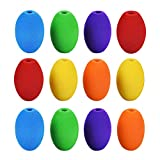 Special Supplies Egg Pen-Pencil Grips for Kids and Adults Colorful, Cushioned Holders for Handwriting, Drawing, Coloring - Ergonomic Right or Left-Handed Use - Reusable (12-Pack)