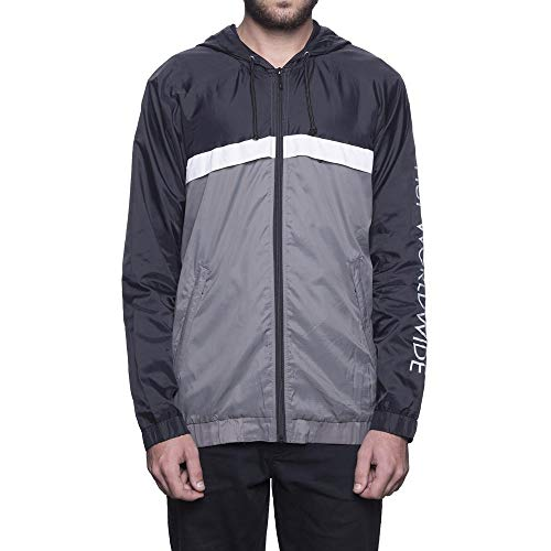 HUF Herren Standard Windbreaker Jacke, schwarz, Mittel