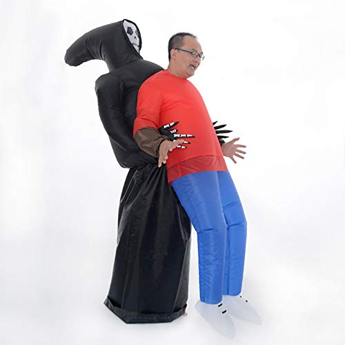 Xpccj Inflatable Costume, Cosplay Costumes, Fancy Dress Costume for Halloween, Christmas(Ghost and Me)