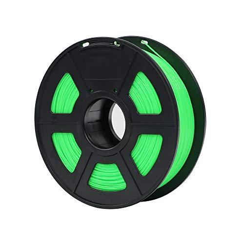 ZFX-3DHAOCAI, Materiali di Stampa di plastica dei Materiali di consumo di plastica del filamento della Stampante 3D di PLA 1.75mm 1kg 28 Colori di generi for Voi scelgono (Color : Green)