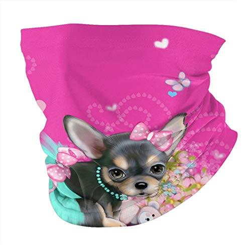 Xinflag@10 Sweetie - Bandanas de color rosa caliente para hombre, polainas para el cuello, unisex, variedad de bufandas para la cabeza