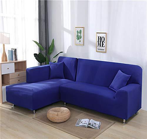 LJWLZFCGN Cubiertas De Couch para Perros Loveseat,Felpa Fundas Sofa,L-Shape Secal Sofa Slipcover,Protector De Sacos para Mascotas,Living Room Muebles Couch Protector-Azul. 235-300cm(93-118inch)