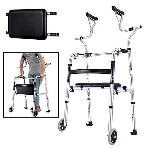 Z-SEAT Progressive Tall Stand Upright Walker für Senioren, ältere Menschen, Erwachsene und Behinderte - Hochleistungs-Rolling Medical Rollator, Last 180 kg