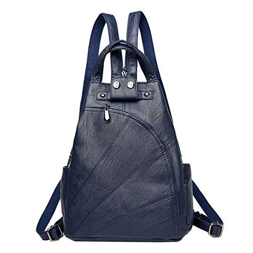 NIYUTA Donna Borse a zainetto viaggio moda casual scuola Borse a spalla marca zaino IT143 Blu