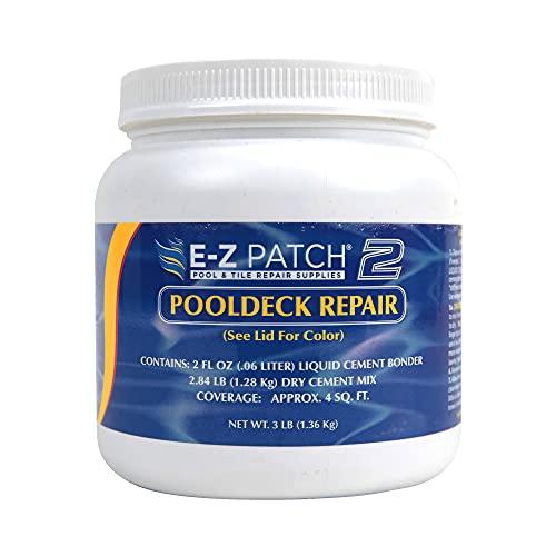 E-Z Patch 2 Pool Patch Repair Kit for Pool Decks and Patios, DIY Concrete Repair (Sand Buff, 3 lbs.)