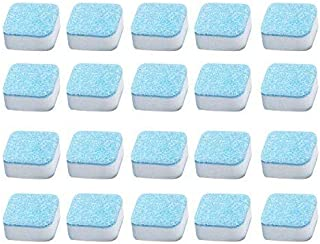 20PCS Laundry Effervescent Tablets Washing Machine Effervescent Tablets Cleaner Laundry Deep Cleaning Remove Odor Decontam...
