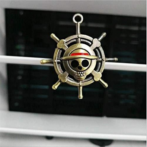 Preisvergleich Produktbild XVBTR Kreativer Skelettkopf Schädel Pirat Symbol Kupferfarbe Lufterfrischer Auto Parfüm festes Parfüm Luftauslass Erfrischer A.