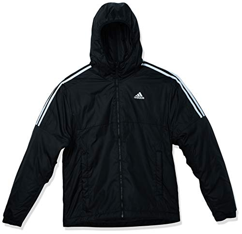 adidas Outdoor,Mens,Essentials Insulated Hooded Jacket,Black,XX-Large