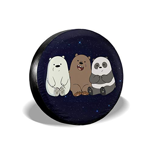 A1LZ-TS3 Sports Fan Tire Covers We Bare Bears Cubs Universal Spare Wheel Tire Cover 17 Inch