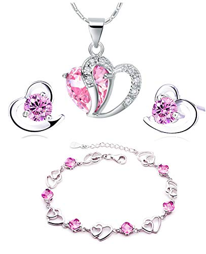 per le donne ragazza, F1235 Scoprire donna 14 K oro rosa placcato Titan acciaio Filo perfetto per sette cuore cavigliera//bracciali