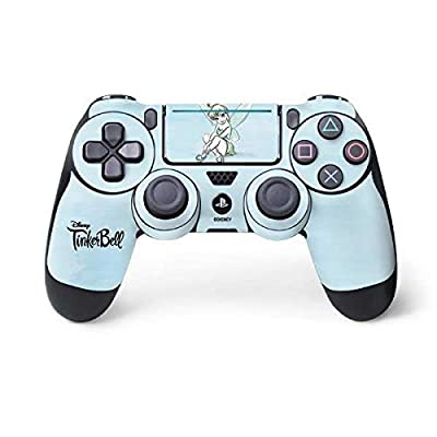 Skinit Decal Gaming Skin for PS4 Pro/Slim Controller - Officially Licensed Disney Tinker Bell Believe in Fairies Design