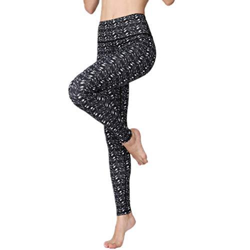 NIGHTMARE Pantalones de Yoga para Mujer con Cintura Alta Control de Abdomen Entrenamiento Correr Estiramiento Leggings de Yoga Leggings de Cintura Alta S