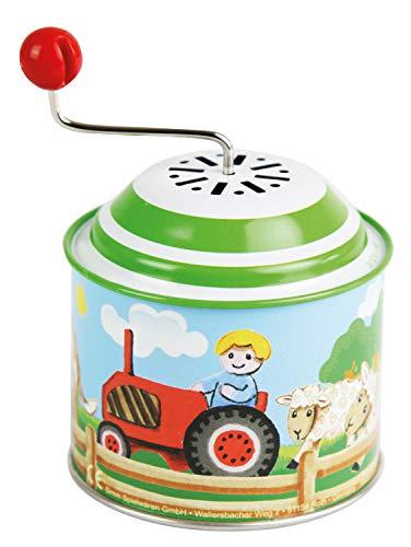 Bolz 52760 Boîte à musique et rotative en métal avec mélodie Old Mc Donald Has a Farm, 18 m+, multicolore 10,5 x 7,5 cm - version allemande