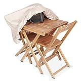 Cov'Up Schutzhülle für Gartentisch, quadratisch, 80 x 80 cm, Taupe