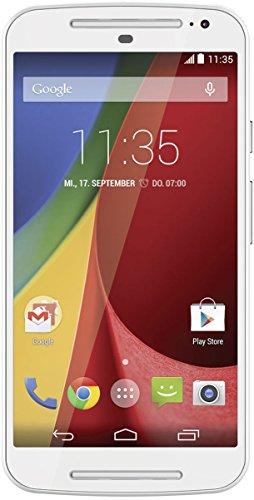 Motorola Moto G 2. Generation Dual-Sim Smartphone (5 Zoll (12,7 cm) Touch-Bildschirm, 8 GB Speicher, Android 5.02) weiß