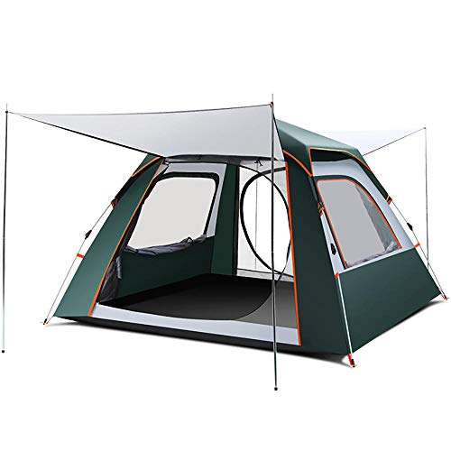 QWEA Pop Up Tents, for 3 to 4 Person Automatic Waterproof Camping Tents with Breathable Windows Easy Setup Suitable for Outdoor Hiking Traveling Festival Bedroom in the Garden Lightweight