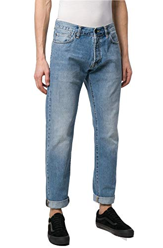Carhartt Jeans Uomo Klondike Pant Blue Worn Bleached 30x32