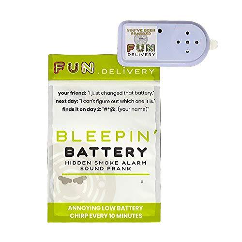 FUN delivery Bleepin' Battery Piepsender nerviger Rauchmelderalarm-Streich