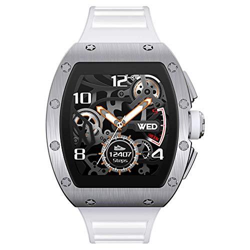 Aliwisdom Smartwatch für Herren Damen Kinder, 1,3 Zoll Fashion Smartwatch Fitness Uhr Wasserdicht Sport Armbanduhr Fitness Tracker für iOS Android, Mit Whatsapp SMS-Lesefunktion (Weiß)